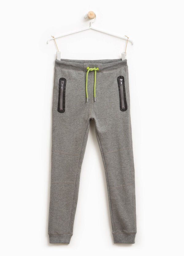 Jogginghose Baumwolle und Viskose mit Reißverschluss | OVS