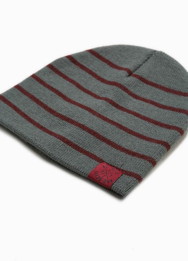 Mütze gestreift mit Patch | OVS