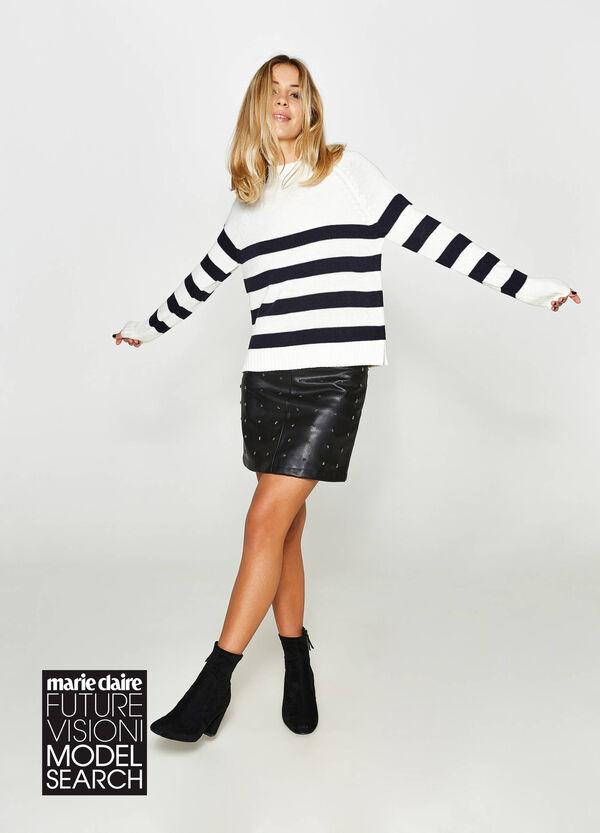 Pullover mit Stehkragen gestreift | OVS