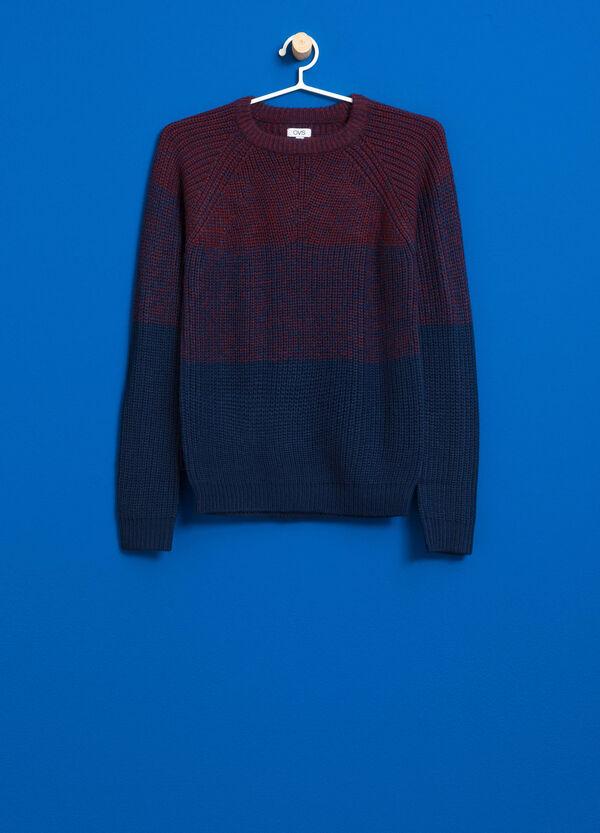 Zweifarbiger Pullover mit Trikot-Verarbeitung | OVS