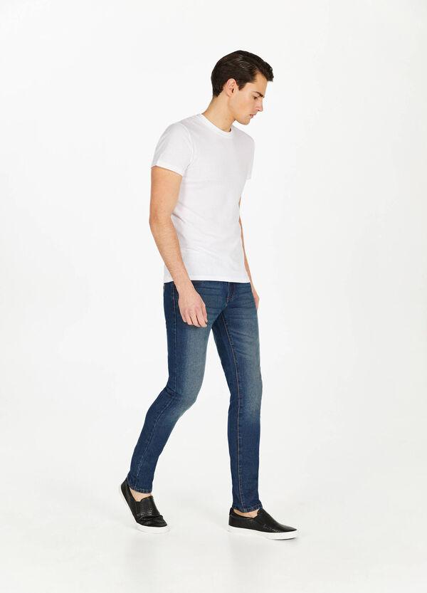 Jeans Straight Fit Used mit entfärbter Optik