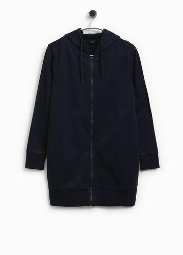 Langes Sweatshirt mit Kapuze Smart Basic