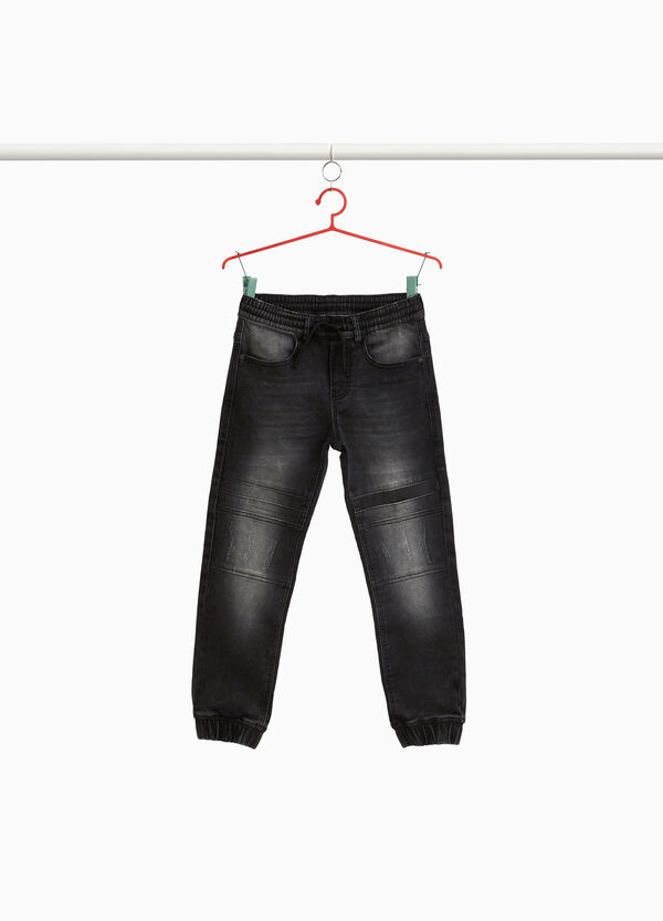 Stretch-Jeans Jogger Fit Washed-out