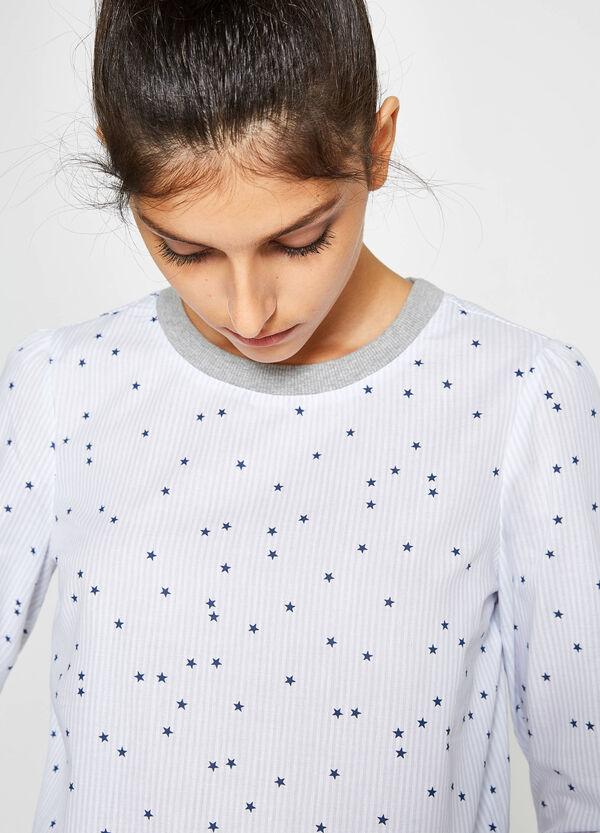Gemustertes T-Shirt reine Baumwolle   OVS