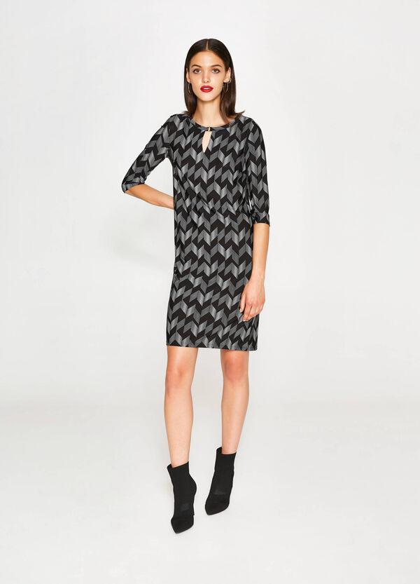Stretch-Kleid mit All-over-Aufdruck   OVS