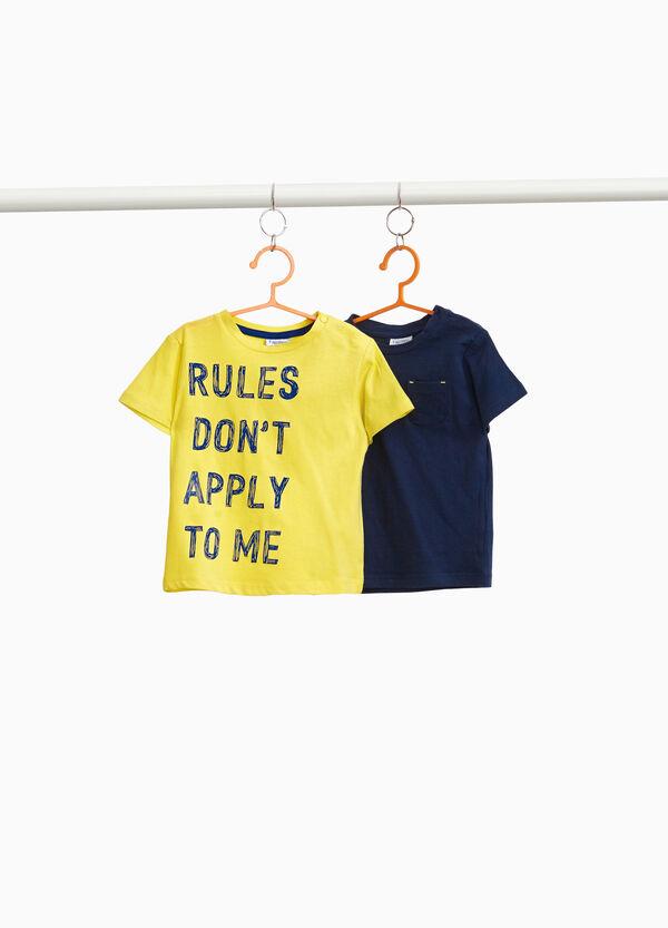 Set zwei T-Shirt Aufdruck und Tasche