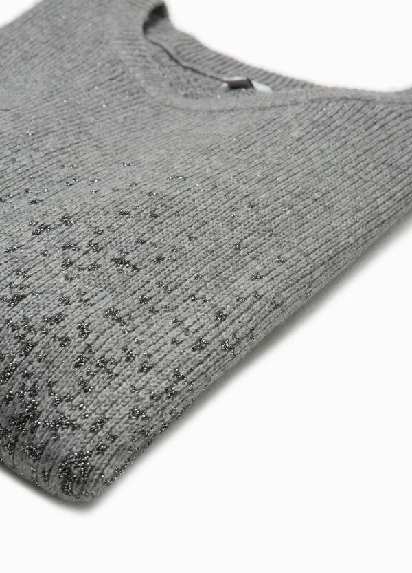 Glitter-Pullover Dégradé-Effekt