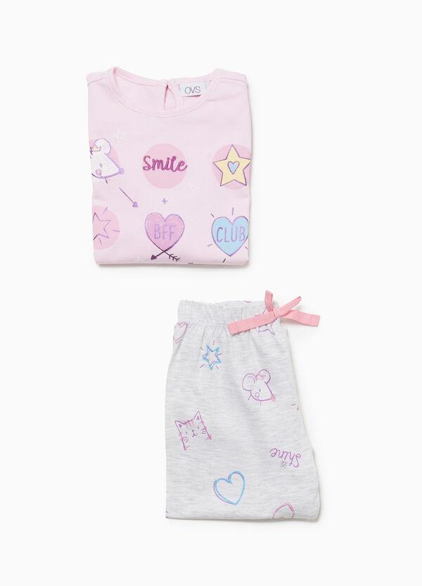 Pyjama Baumwolle Muster und Aufdruck