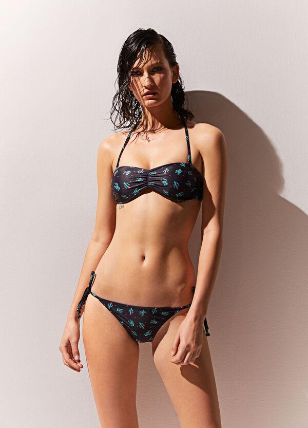 Bandeau-Bikini-Oberteil Kaktus