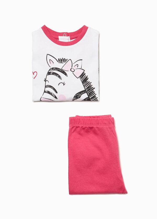 Pyjama reine Baumwolle Aufdruck Zebra
