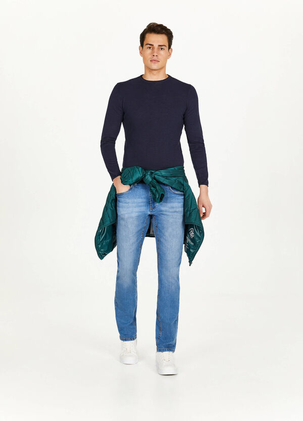 Pullover aus reiner Baumwolle Trikot-Verarbeitung