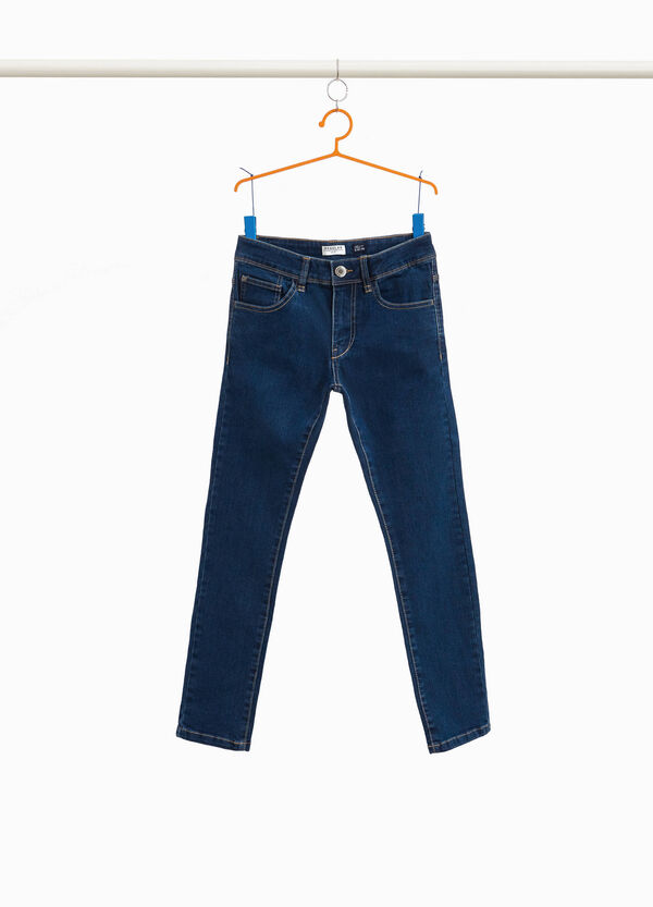 Einfarbige Stretch-Jeans Regular Fit