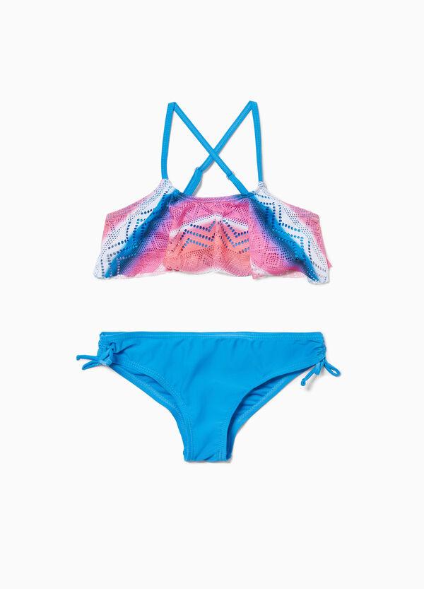 Stretch-Bikini Lochmuster Ethno