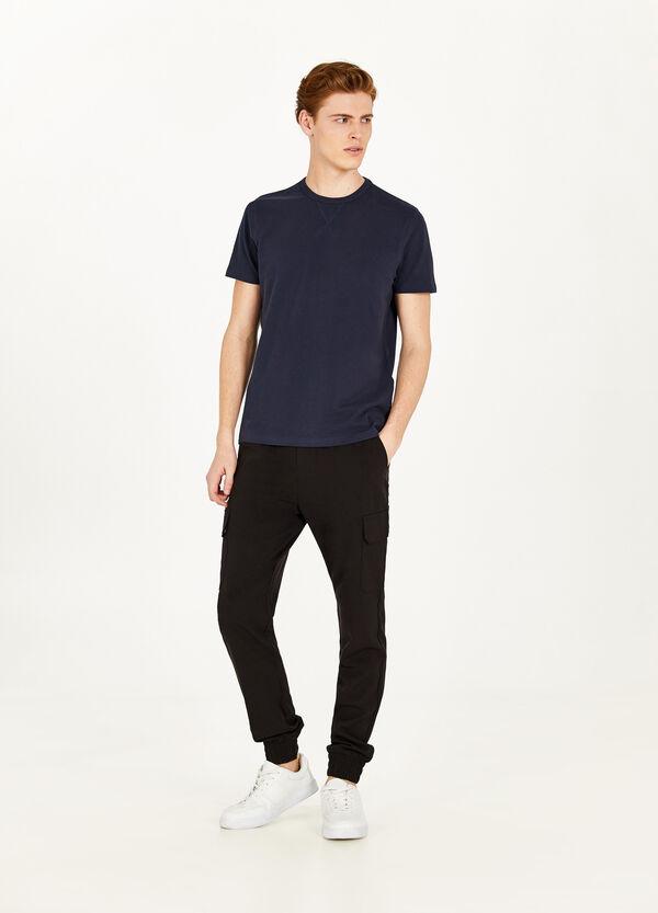 T-Shirt reine Baumwolle mit Schlitzen