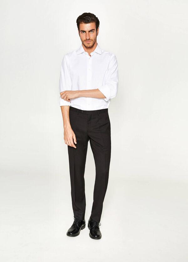 Elegante Hose Slim Fit aus Viskose