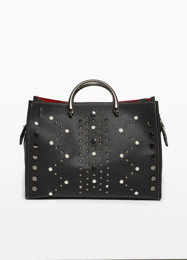 Handtasche mit Metall-Details