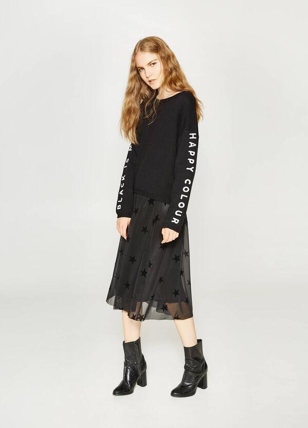 Pullover aus Baumwoll-Mix mit Buchstabenaufdruck | OVS