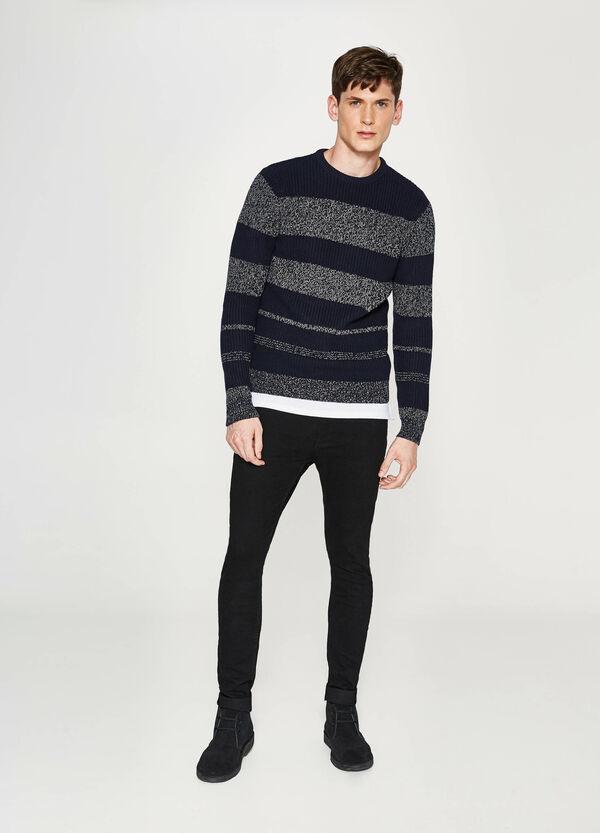 Pullover aus Baumwolle mit Streifenmuster