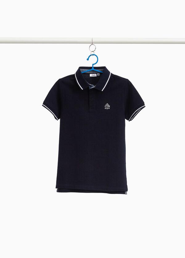 Polo-Shirt Baumwollstretch mit Schlitzen