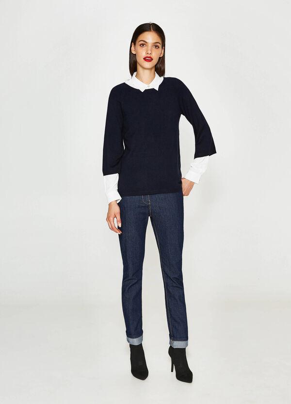 Pullover aus Viskose mit Raglanärmeln | OVS
