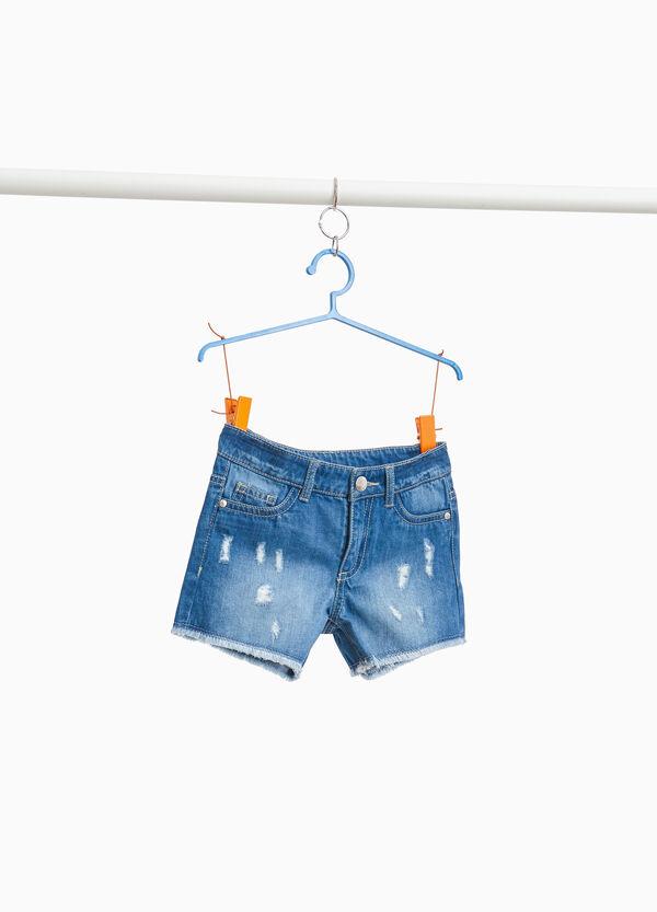 Jeans-Shorts Used-Effekt Destroyed-Elemente