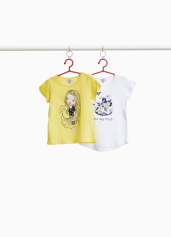 Set zwei T-Shirts Girl und Parfüm