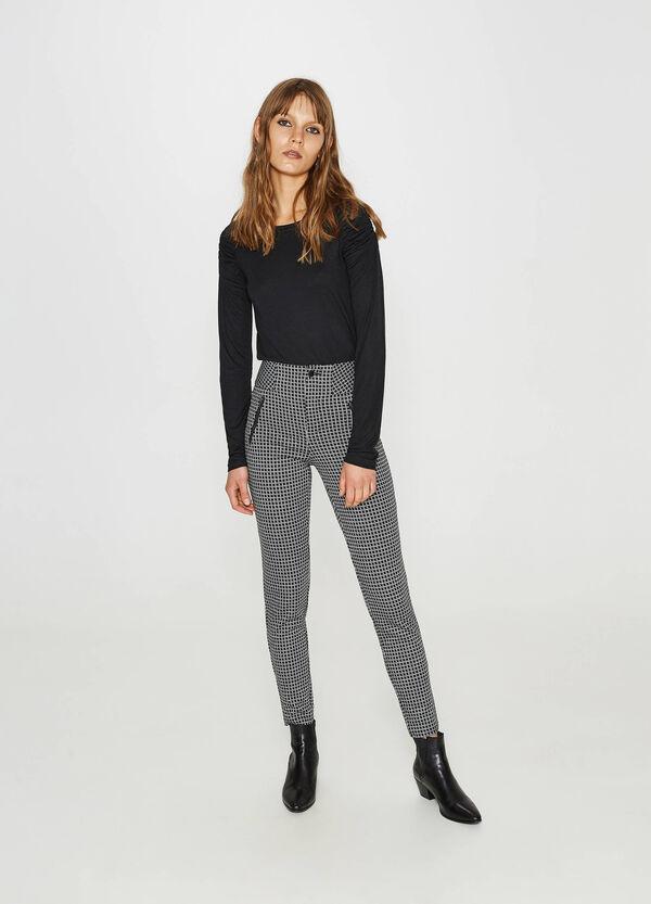Hose mit hohem Bund aus Viskose Muster | OVS