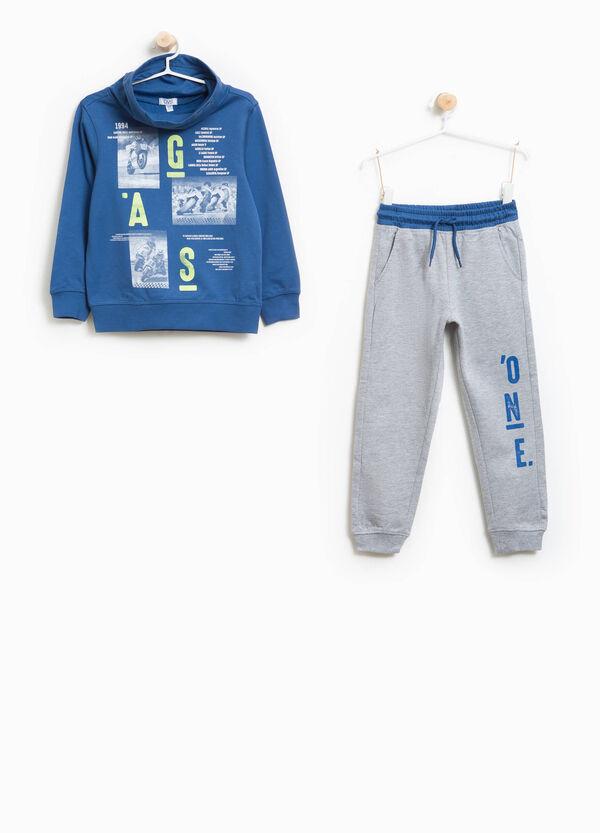 Jogginganzug reine Baumwolle Buchstabenaufdruck | OVS