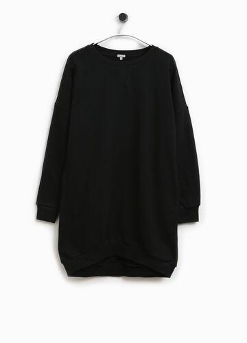 Langes Sweatshirt aus reiner Baumwolle Smart Basic