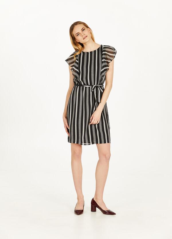 Kleid aus Georgette Muster