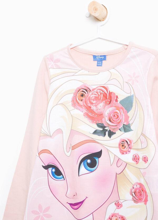 T-Shirt aus Baumwolle Aufdruck Eiskönigin und Strass   OVS