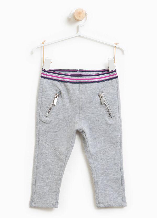 Hose aus Baumwollstretch mit Reißverschluss