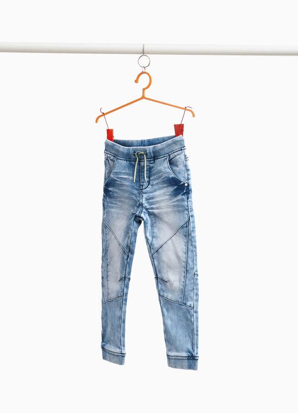 Stretch-Jeans Jogger Fit Effekt-Färbung