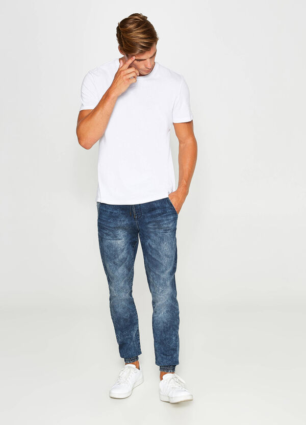 Stretch-Jeans Loose Fit mit Kordelzug | OVS