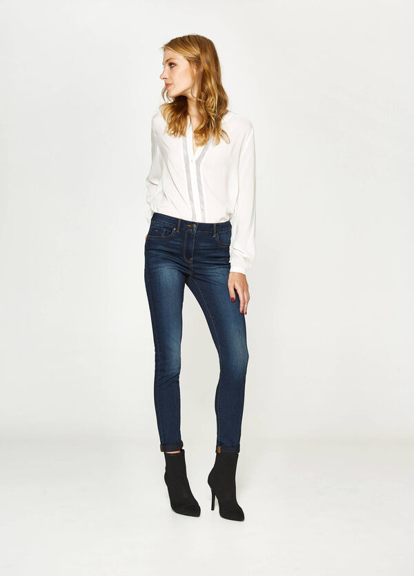 Stretch-Jeans mit Used-Effekt | OVS