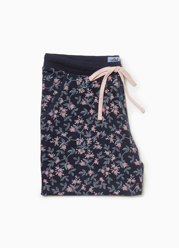 Pyjama-Hose Baumwolle floral