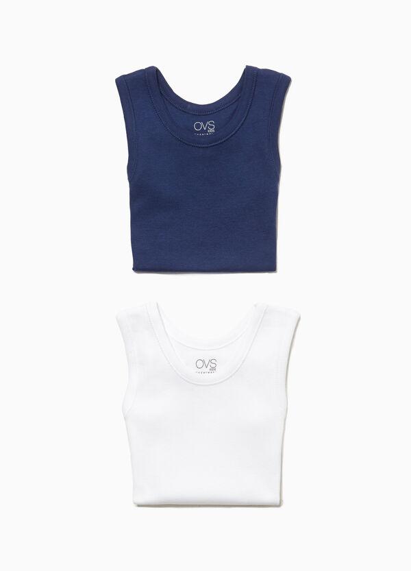 Set zwei Unterhemden aus Baumwolle