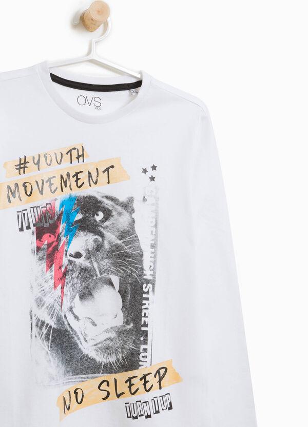 T-Shirt mit Maxi-Aufdruck Panther | OVS