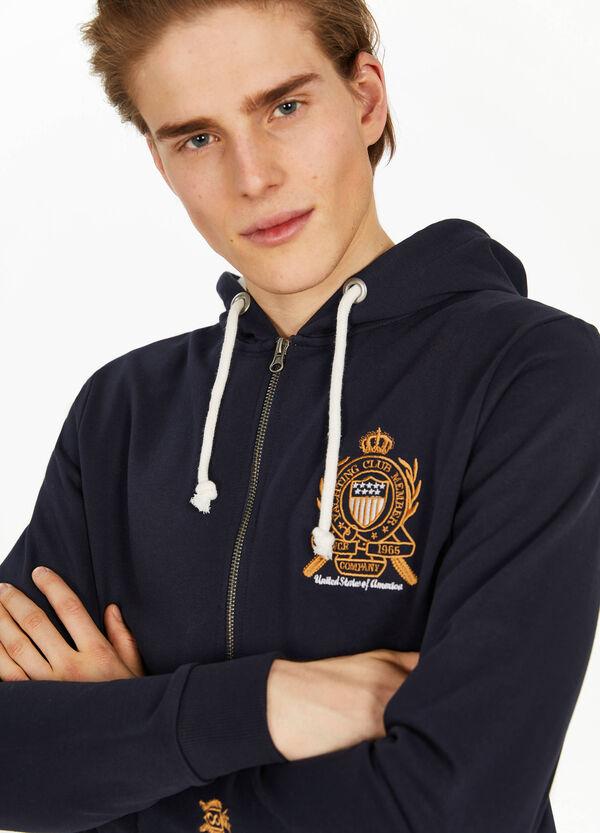 Sweatshirt reine Baumwolle mit Stickerei Wappen