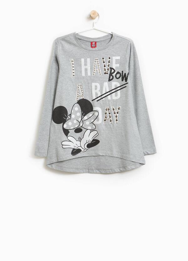 T-Shirt reine Baumwolle Minnie und Strass | OVS