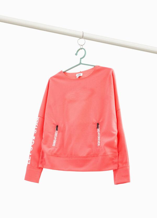 Bedrucktes Sweatshirt mit Öffnung