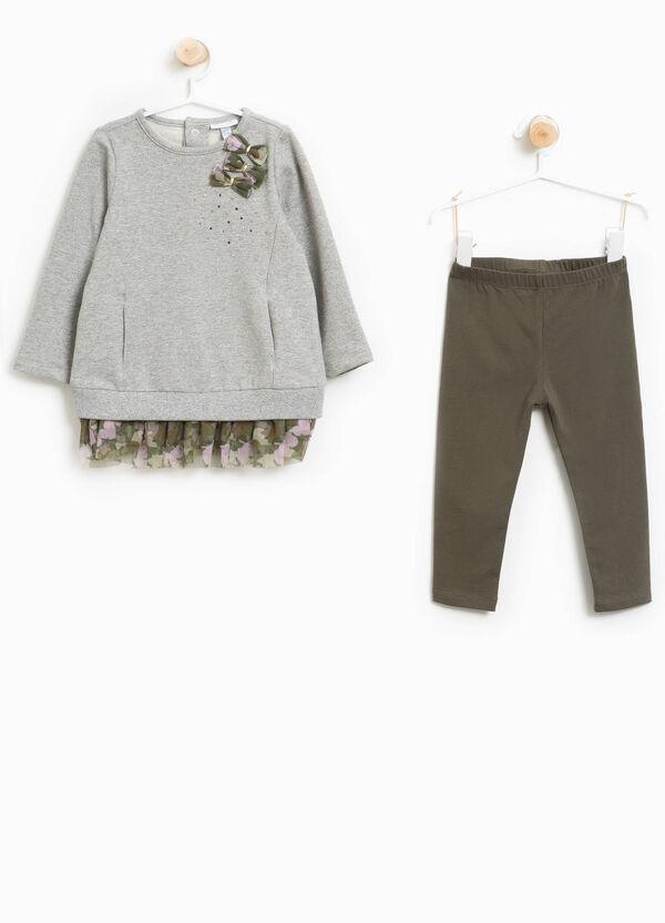Garnitur Sweatshirt und Hose mit Tüll