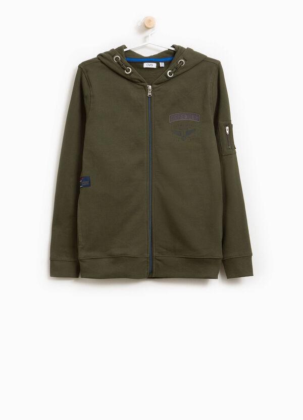 Sweatshirt aus Baumwolle Patch und Aufdruck | OVS