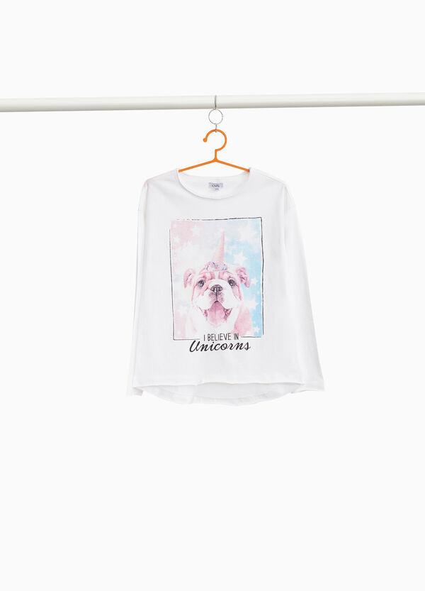 Ungesäumtes T-Shirt bedruckt