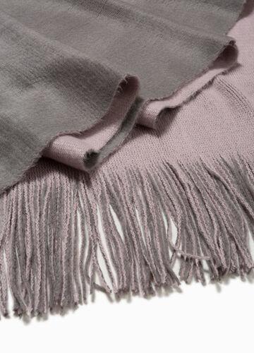 Zweifarbiger Schal mit langen Fransen