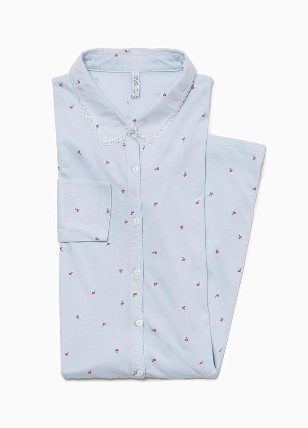 Nachthemd Muster Kirschen