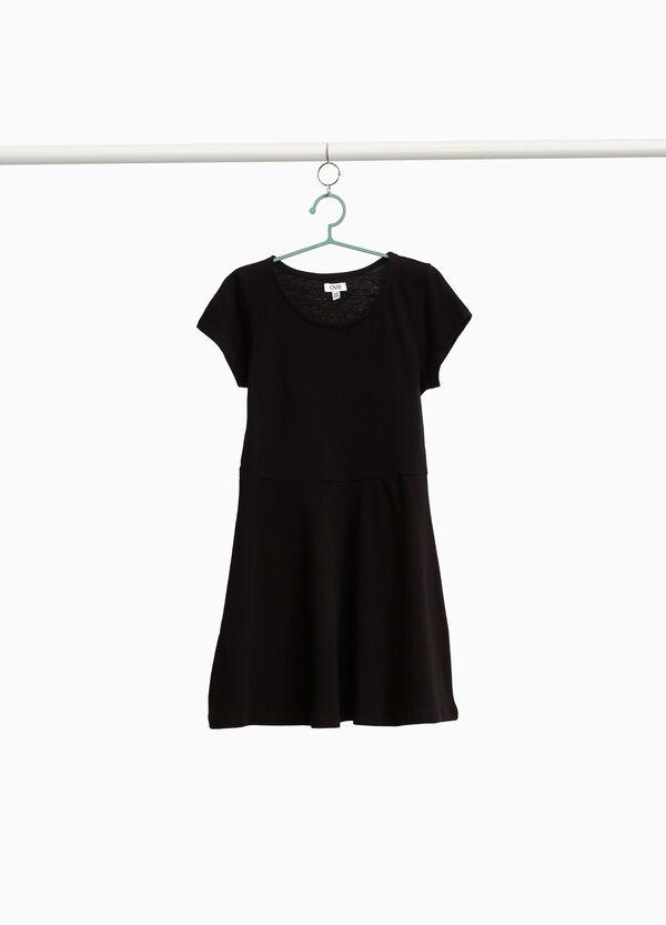 Kleidchen Rundhalsausschnitt aus reiner Baumwolle