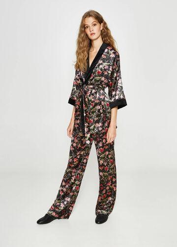 Kimono-Blazer floraler Print
