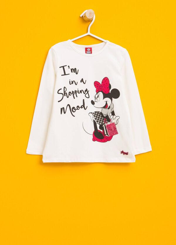 T-Shirt aus Baumwollstretch mit Minnie-Aufdruck   OVS