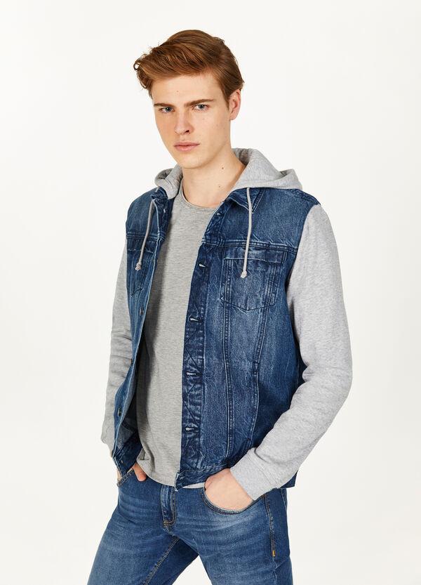 Jeans-Blouson mit Kapuze